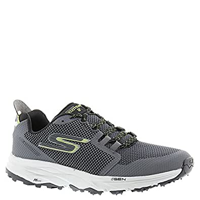 SKECHERS  Men's Go Trail 2 Charcoal/Lime Athletic Shoe