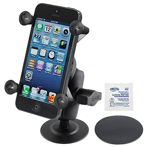 RAM MOUNTS (RAP-B-378-A-UN7U Flex Adhesive Mount with Short Double Socket Arm and Universal X-Grip Cell Phone Holder by RAM MOUNTS