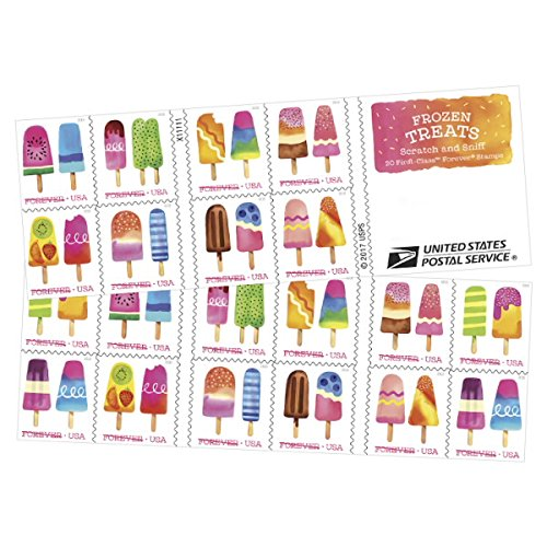 (Frozen Treats - 2018 USPS Forever First Class Postage Stamp Scratch-and-Sniff Sheets U.S. Forever 50 Cents (5 Books of 20 Stamps)