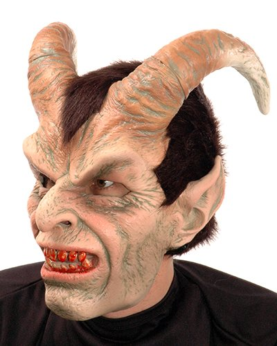 Zagone Elegant Devil Mask with great Horns ()
