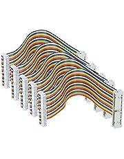 5Pcs GPIO Cable for Raspberry Pi Male to Female 40pin Ribbon Wire Computer Accessories 20cm(Male to Female)