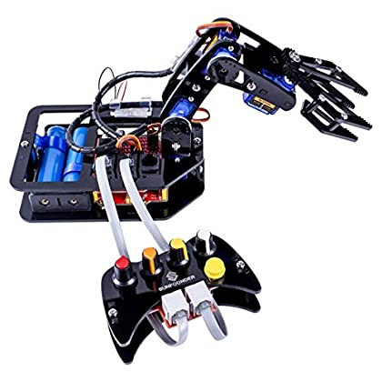 Image of HamiltonBuhl RBA18 STEAM Robo-Arm Kit for Arduino - Programmable 4-Axis Robot Arm, Suitable for Ages 13+, Programmable with Arduino and Rollarm Software, Compatible with Windows PC CD Racks
