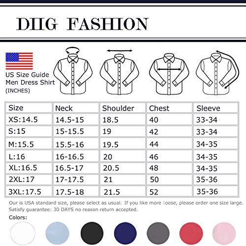 diig Men Dress Shirt White 14.5 by diig (Image #6)
