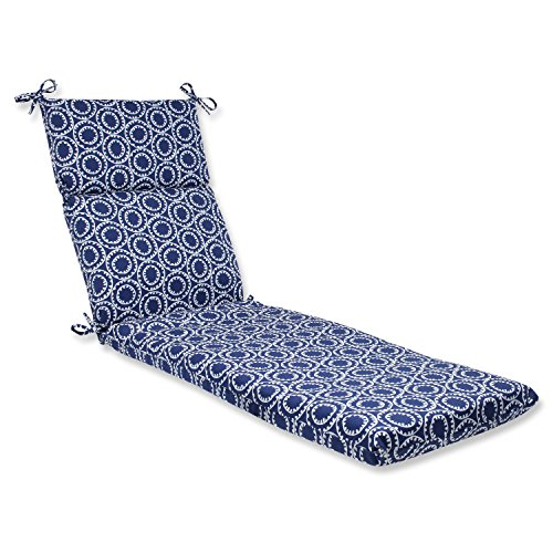 Pillow Perfect Outdoor Ring a Bell Chaise Lounge Cushion, Navy