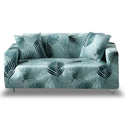 HOTNIU Printed Stretch Sofa Cover- 1 Piece Elastic Polyester Spandex Couch Covers- Universal Fitted Sofa Slipcover Furniture Protector (Sofa, Pattern #BX) (Slipcovers Sofa Flexsteel)