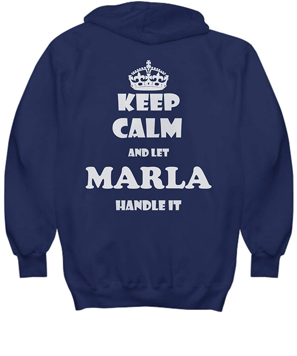 2 Sides Keep Calm and LET Marla Handle IT with Default Size 2XL White