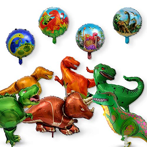 Pack of 10 Dinosaur Balloons Animal Balloon Kids Birthday Party Baby Shower Birthday Decorations ()