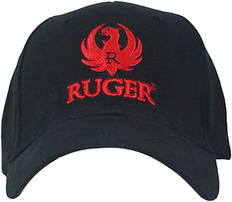 caacb397db5 RUGER Men s 3D Logo Fitted Hat L XL Black at Amazon Men s Clothing store