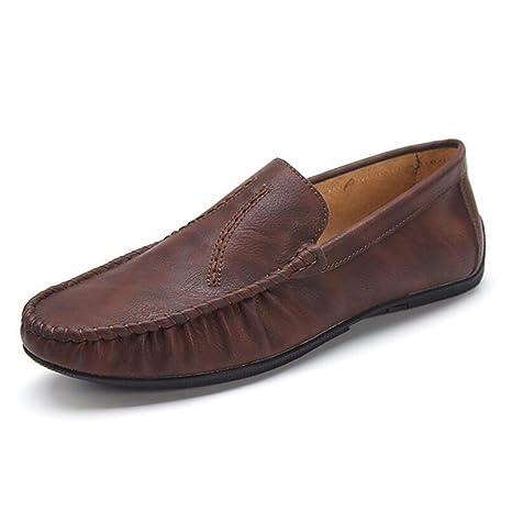 CAI Zapatos de Hombre Zapatos de Microfibra de Cuero Perezosos 2018 Primavera/Verano/Otoño