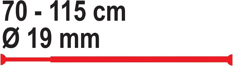chrom Aluminium RIDDER 155100 Duschvorhangstange /Ø 19 mm ausziehbar von 70-115 cm