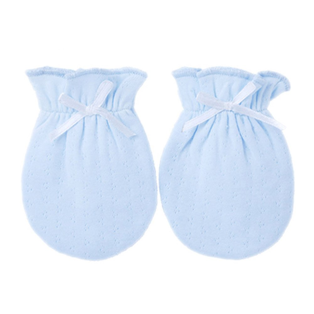 2-Packs Lovely Newborn/ Infant NO-Scratching Cotton Mittens For 0-6M One Size Panda Superstore PS-BAB3512030011-CAROL00039