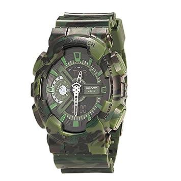 WMWMY Mens Sports Watch Analógico Dual LED Reloj Digital de Cuarzo Relojes electrónicos Militares Watch,