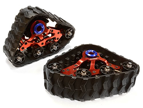 Integy RC Model Hop-ups C26087RED Front Snowmobile & Sandmobile Conversion for Axial 1/10 Wraith