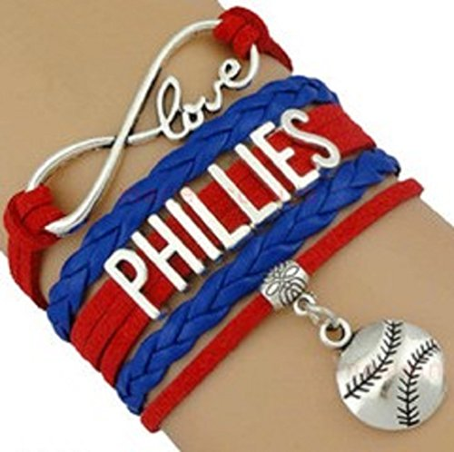 Philadelphia Baseball Charm Phillies (Phillies Multi Strand Leather Like Team Charm Bracelet by Got To Have This)