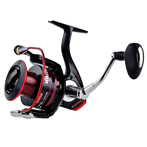 KastKing Sharky II Fishing Reel - Smooth Spinning Reel - 41.5 Lb Carbon Fiber Max Drag - 10+1 Superior Ball Bearings - Brass Gears - Top Quality at An Affordable Price!