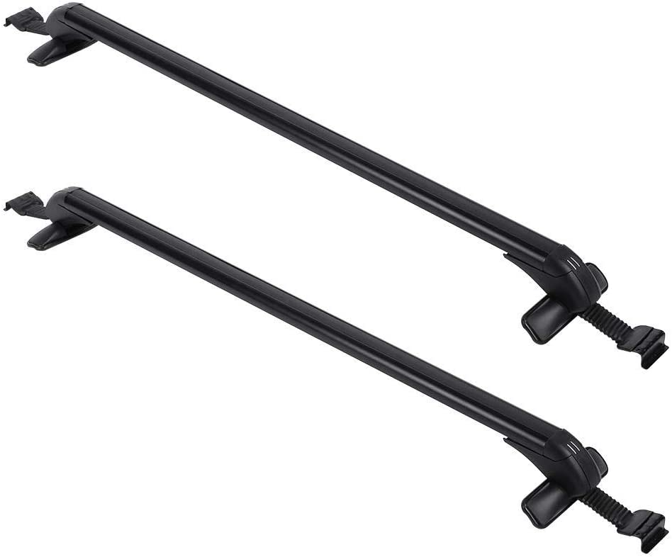 Car Top Luggage Roof Rack Bars 2x Aluminum Car Luggage Roof Bars Universal Anti-Theft Luggage Rack Carrier with 2 Keys for Luggages Bicycles