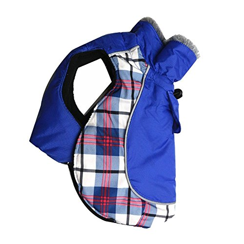 DroolingDog Pet Dog Coat Puppy Warm Winter Jacket Sweater Apparel Outdoor Stylish Clothes with Nylon Waterproof Material and 100% Polyester Fleece Lining for Small Medium Big Dogs, XL, Blue