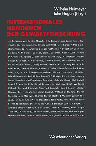 Internationales Handbuch der Gewaltforschung (German Edition)