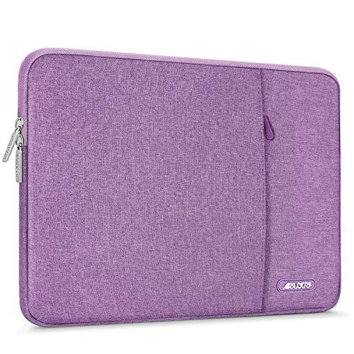 MOSISO Tablet Sleeve Compatible with 9.7-11 inch iPad Pro, iPad 7 10.2 2019, iPad Air 3 10.5, iPad Pro 10.5,Surface Go 2018,iPad 1/2/3/4/5/6,Water Repellent Polyester Vertical Pocket Bag, Light Violet (Ipad Air 2 Vs Galaxy Tab A 10-1)