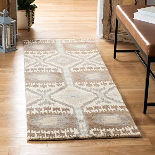 Safavieh Wyndham Collection WYD720A Handmade Natural and Multi Wool Runner