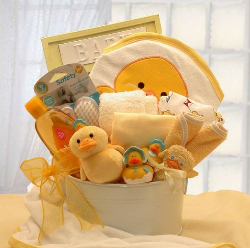 New Baby Bathtub Gift Basket -Neutral Baby Gift