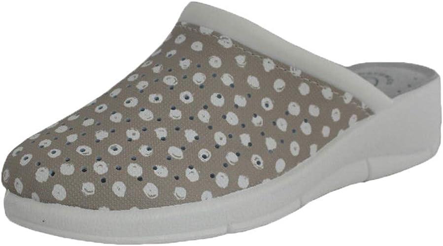 Hellery Women Print Work Nurse Kitchen Nursing Clogs Shoes