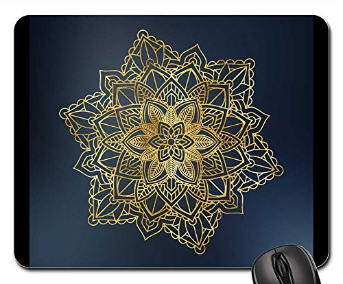 (Mouse Pad - Mandala Floral Ornament Ethnic Shimmering Pattern)