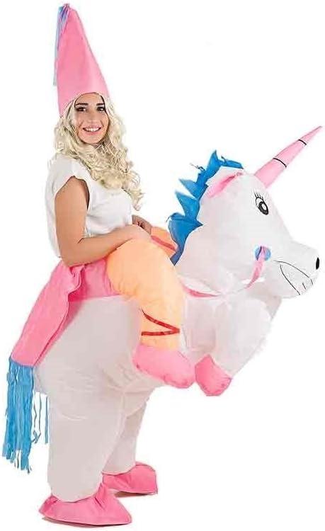 Creaciones Llopis- Disfraz Adulto Hinchable Unicornio con Princesa ...