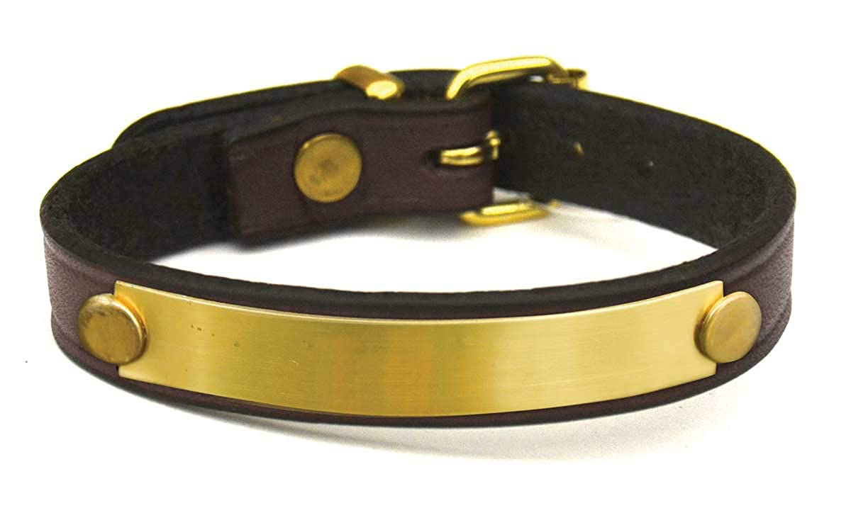 Big Dees Custom Leather Bracelet with Engraved Brass Plate