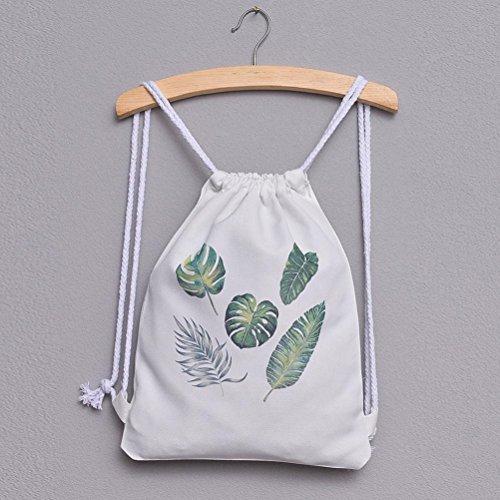 and Messenger Crossbody Cute NXDA Women Girls Bag Shoulder Bag Handbags Cats Print Drawstring Tote Leaves Canvas Pineapple For Bags Three Zxzgx