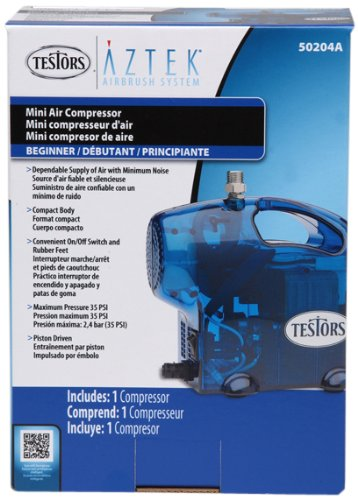 Testors Mini Airbrush Compressor, Blue
