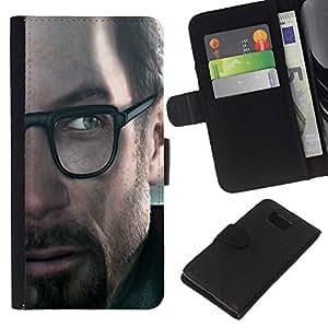 KLONGSHOP // Tirón de la caja Cartera de cuero con ranuras para tarjetas - G0Rdon Freeman Hl Gaming - Samsung ALPHA G850 //
