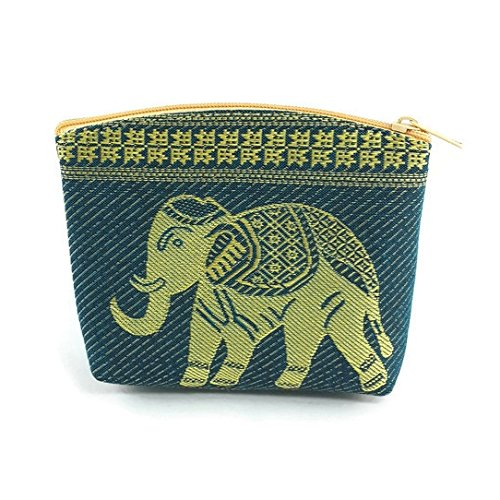 Thailand Rayon Silk Coin Purse,Credit Card Wallet (turquoise) (Turquoise Thai Silk)