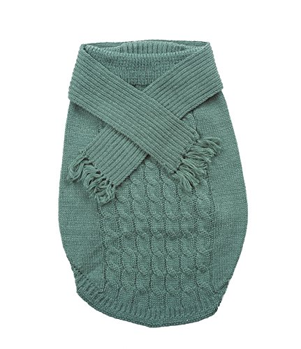 Dog Scarf Sweater-Sage Extra Small