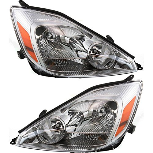 Headlight Set of 2 Compatible with 2004-2005 Toyota Sienna Right and Left Side Assembly - Headlight Toyota Sienna
