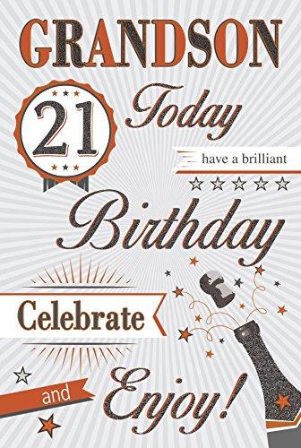Birthday Cards Tarjeta de cumpleaños, 21 años, para nieto ...