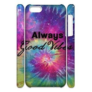LJF phone case Good Vibes Customized 3D Cover Case for Iphone 5C,custom phone case ygtg583548
