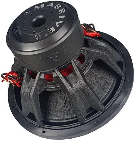 Dual 4 Ohm Massive Audio SUMMOXL124-12 Inch Car Audio 3000 Watt SUMMOXL Series Competition Subwoofer 2 Inch V.C