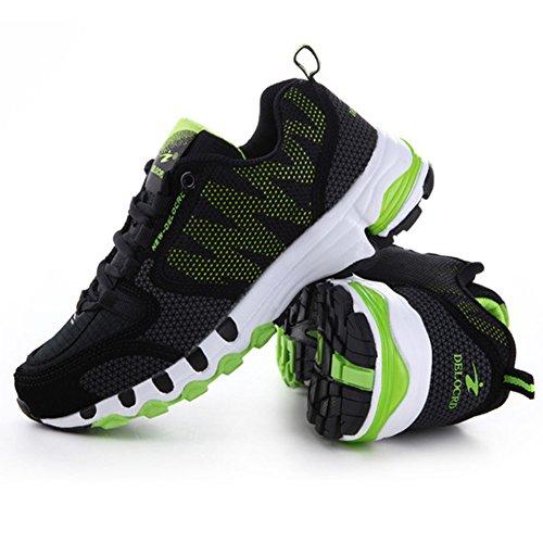 Unisex Laufschuhe Retwin Turnschuhe Straßenlaufschuhe Sneaker Mit Snake Optik Damen Und Herren Outdoor Sportschuhe Grün+Schwarz