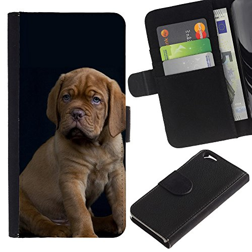 EuroCase - Apple Iphone 6 4.7 - great Dane vizsla puppy baby dog - Cuir PU Coverture Shell Armure Coque Coq Cas Etui Housse Case Cover