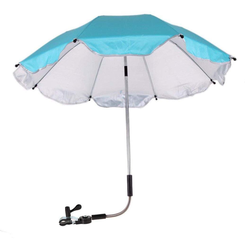 Hongxin ベビーカー用傘 クリアランスベビーカーカバー 日光 雨から保護 紫外線から保護 屋外 傘 幼児 椅子 車いす アクセサリー 66x77 cm ブルー  ブルー B07GJC1KGV