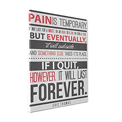 Amazoncom Wall Art Eric Thomas Inspirational Quote Pain Is