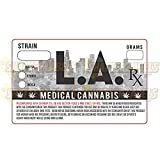 Los Angeles Weed Medical Marijuana Strain Labels California CA Prop 215 Stickers 1.25 x 2'' (100)