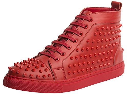 J75 by Jump Men's Zoo High-Top Fashion Sneaker Red 8 D US by J75