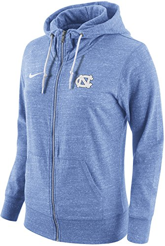 Nike Womens North Carolina Tar Heels Vintage Tailgate Lightweight Full Zip Hoodie (Small, Heather Sky Blue) (Golf Vintage Sweatshirt)