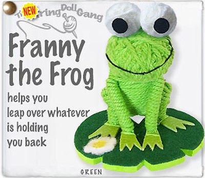 Kamibashi Franny the Frog Original String Doll Gang Keychain (String Doll Gang)