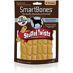 SmartBones Stuffed Twistz Peanut Butter Dog Chew, 6 pieces/pack