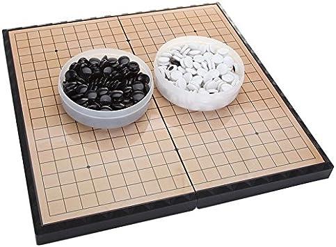 FunnyGoo Juego de Tablero de ajedrez M go con Piedras plásticas M ...