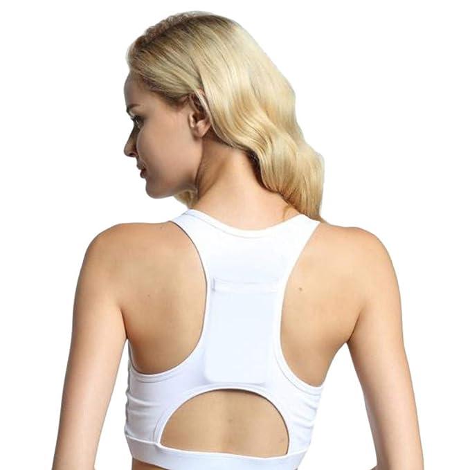 Camisetas Deporte Mujer Fitness,Sujetador Deportivo de una Pieza para Mujer Sujetador de Yoga Transpirable