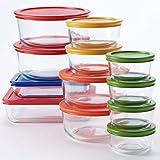 Pyrex 24-pc. Glass Storage Set with Color Lids